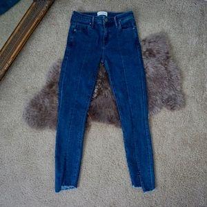 Parker Smith Cutoff Ava Crop Skinny Jeans Size 25
